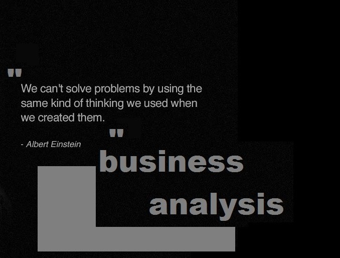 Business analysis quote